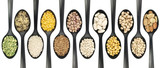 Legumes over spoons