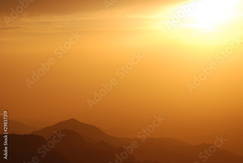 Canvas Prints Cuban Red Sunset in a Wadi in Jordan