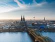 Leinwandbild Motiv Kölner Dom und Stadtpanorama