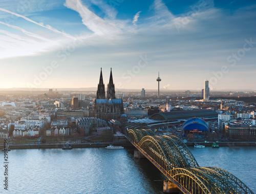 Fotografía  Kölner Dom und Stadtpanorama
