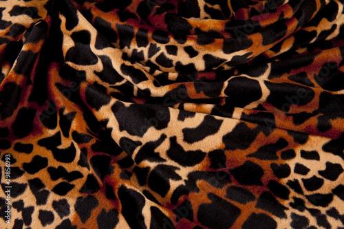 Fotografie, Obraz  Leopardenfell mit Falten