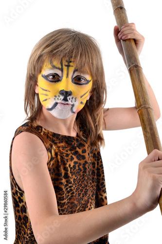 Photo  Carnaval - Enfant jouant à la Jungle