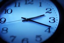 Blue Clock Closeup