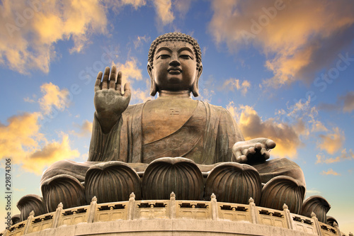Door stickers Hong-Kong Giant Buddha