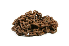Tangle Of Old Rusty Chain