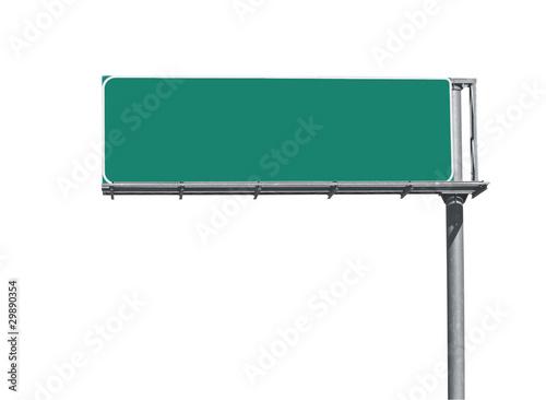 Fotografie, Obraz  Blank Freeway Sign
