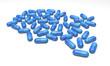 Tabletten, blau