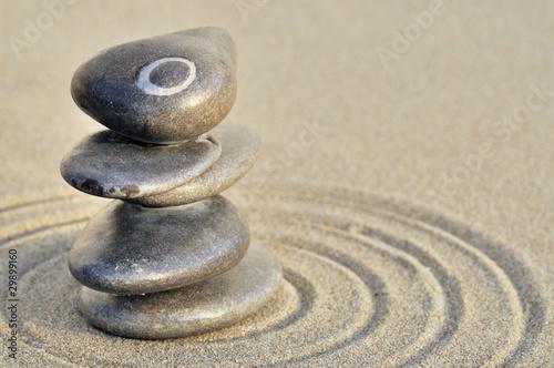 Photo sur Plexiglas Zen pierres a sable Galets en équilibre sur la plage