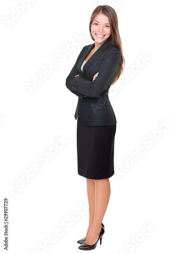 Fotografie, Obraz  Businesswoman isolated full length on white background