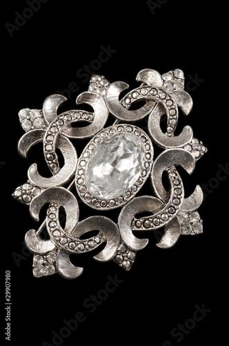 Photo vintage silver brooch