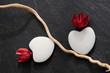 Composition florale et galets