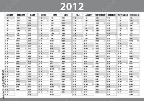 kalender 2012 august