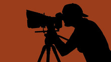 Cameraman Movie Camera
