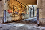 Fototapeta Uliczki - dirty lane in the old town