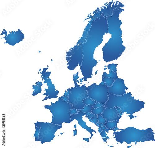 polityczna-mapa-europy-w-niebieskich-kolorach