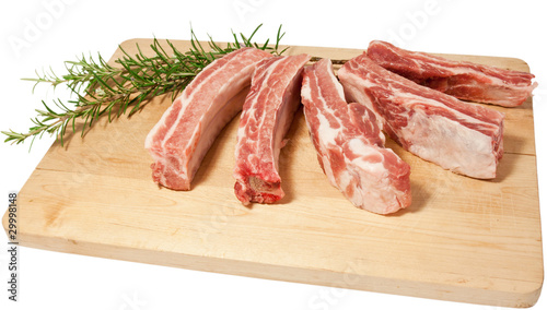 Recess Fitting Steakhouse Costine di maiale. Pork, meat.
