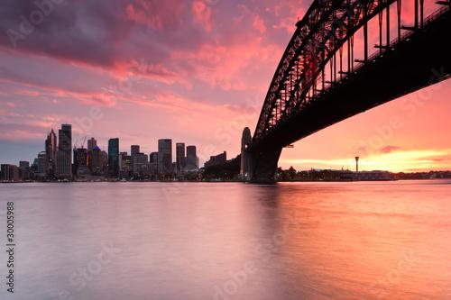 Sydney Harbor Skyline at sunset