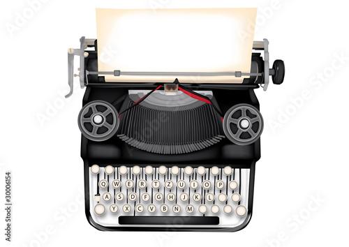 macchina da scrivere con foglio Fototapet
