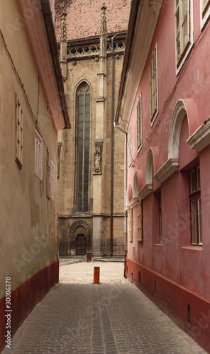Backstreet in Brasov,Romania