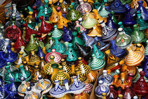 Poster Maroc Il souk di Marrakech
