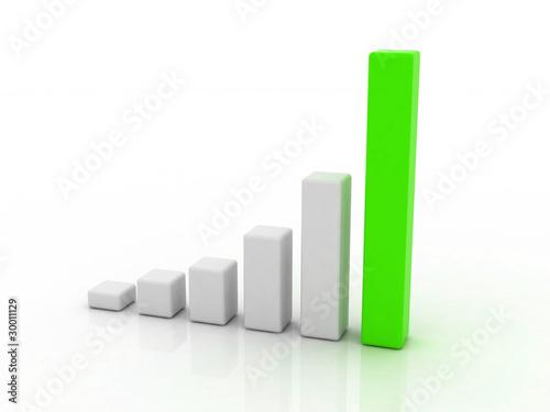 GREEN GRAPHIC Billede på lærred