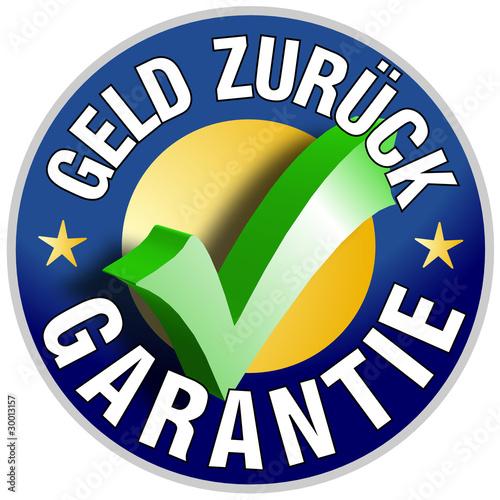 Geld zurück Garantie Button/Plakette Wallpaper Mural