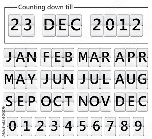 Fotografía  date counter flip display illustration