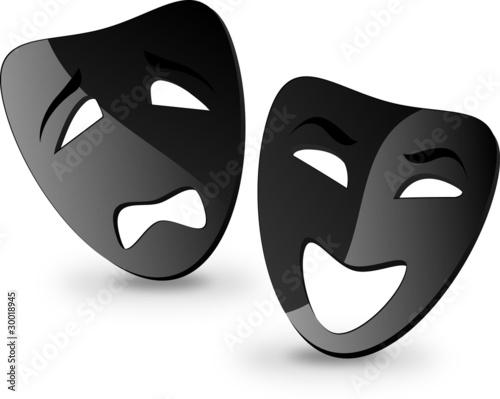 Fotografía Comedy & tragedy mask
