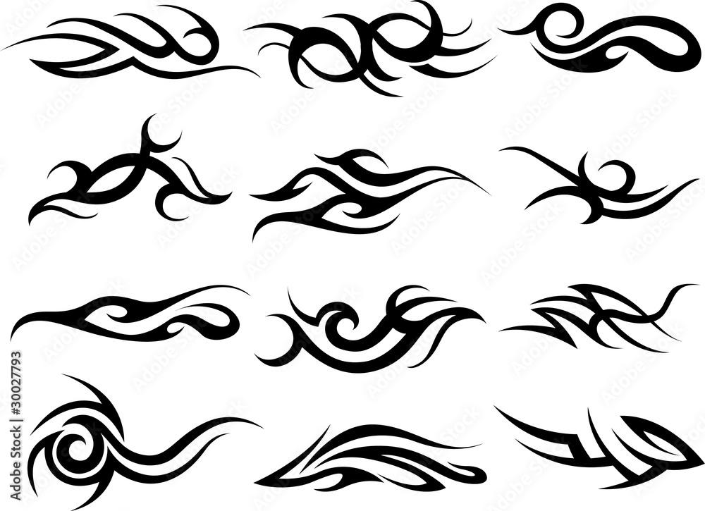 Fototapeta tribal fire symbol design