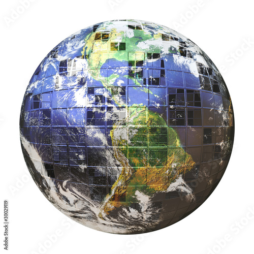3D Wire Frame Earth Sphere - Buy this stock illustration and explore ...