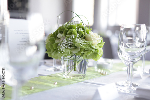 Fototapeta dekoracja stołu na weselu