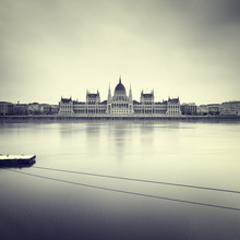 Gloomy Images Of Hungarian Parliament.