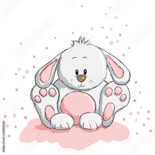 Foto-Lamellen (Lamellen ohne Schiene) - Cute rabbit (von adrijanavs)