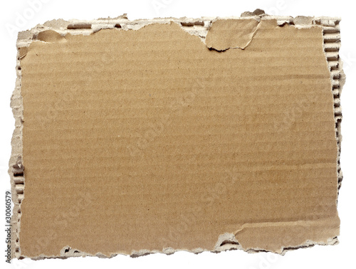 ripped cardboard piece paper note Canvas