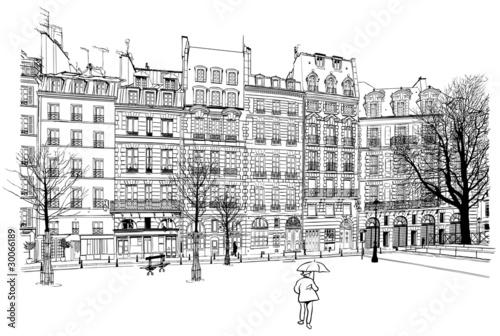 Acrylic Prints Art Studio Paris - Place Dauphine