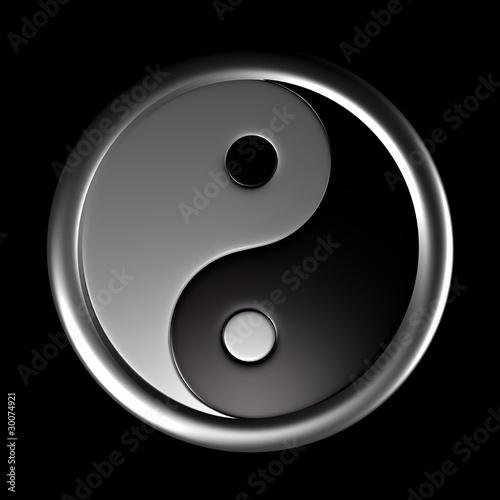 Doppelrollo mit Motiv - 3D - Yin und Yang Symbol 02