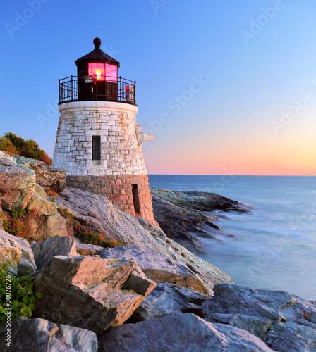 Fotobehang Natuur Park Lighthouse at sunset
