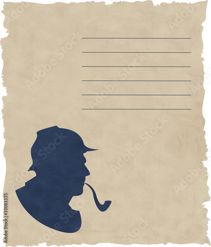 the vector silhouette pipe smoker Canvas Print