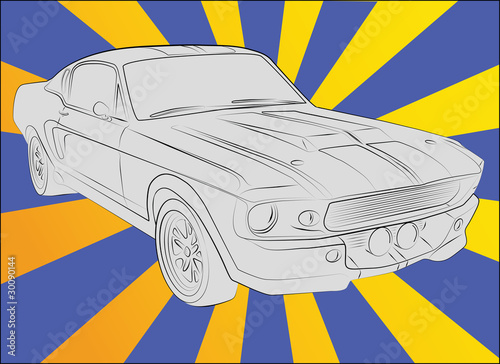 Shelby GT 500 eleanor 1967 Wallpaper Mural