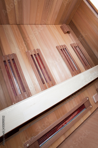 Photo Stands Stairs Wood sauna inside