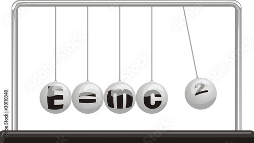 Photo  newton`s cradle - theory of relativity