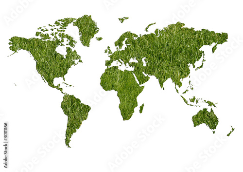Foto op Canvas Wereldkaart Ecologic world map