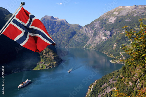 Photo Geirangerfjord in Norway (Unesco World Heritage)