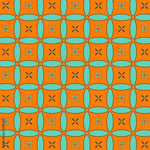 Motiv-Klemmrollo - Retro Muster (von dipego)