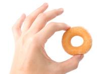 Lovely Mini Donut In Man's Hand