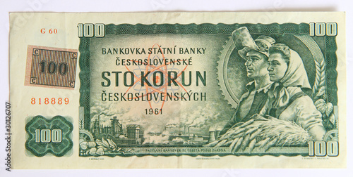 Photo Kolekce ze série fotek - staré i nové české peníze