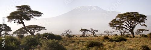 La pose en embrasure Afrique Kilimanjaro Mountain