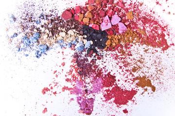 Fototapeta Do salonu kosmetycznego crushed eyeshadow