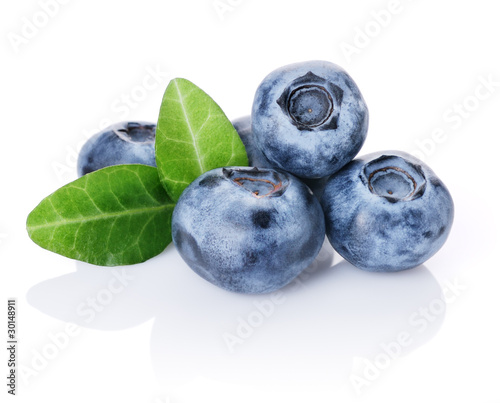 Foto op Canvas Vruchten Blueberries