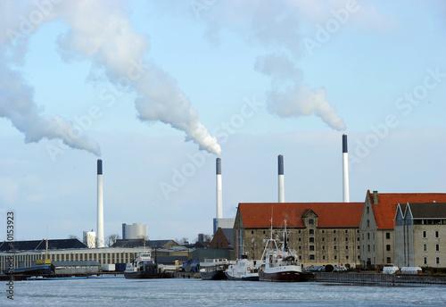 Photo  Copenhagen Port Chimneys